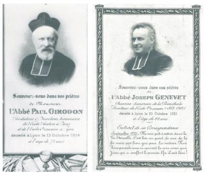Les abbés Paul Girodon et Joseph Genevet